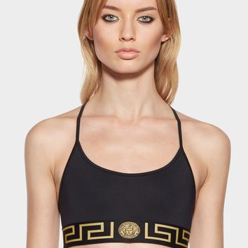 Versace Greek Key Sports Bra for Women | US Online Store