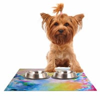 "Ebi Emporium ""Something About the Sea"" Yellow Multicolor Dog Place Mat"