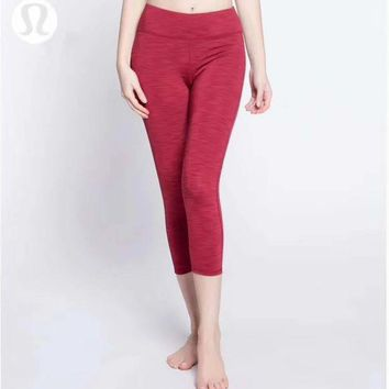 CREYUP0 Lululemon Women Fashion Gym Yoga Exercise Fitness Leggings Sweatpants-5