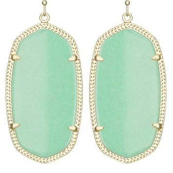 Danielle Earrings in Mint Green - Kendra Scott Jewelry