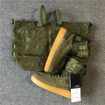AUGUAU UA NIKE SPECIAL FIELD AIR FORCE 1 FADED OLIVE WITH GUM SOLE