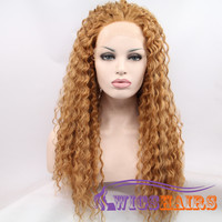 "24"" Long Curly without Bangs Synthetic Wigs for Women Lace Front Wigs Brown"