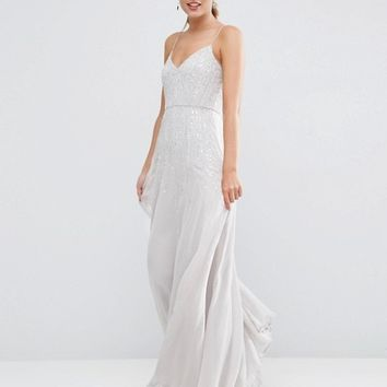 ASOS WEDDING Embellished Cami Maxi Dress at asos.com