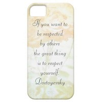 Respect Yourself (Dostoyevsky Quote) Iphone 5 Case from Zazzle.com
