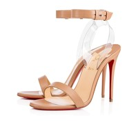 Christian Louboutin Cl Jonatina Nude/transp Leather 17s Sandals 11711103241 - Best Online Sale