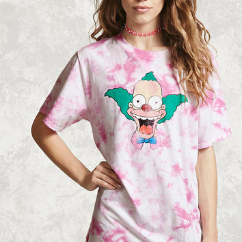 Krusty Graphic Tie Dye Tee