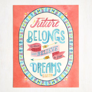 Sayings Exhilarating Optimism Print by ModCloth