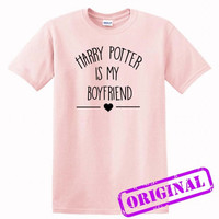 Harry Potter Is My Boyfriend for shirt light pink, tshirt light pink unisex adult
