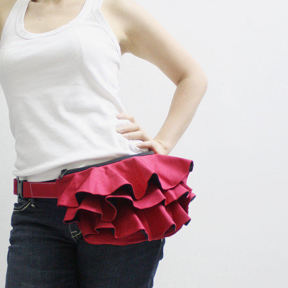 Kinies Ruffled Waist Purse In Red Fanny From Kinies On