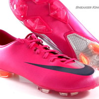 Nike Mercurial Miracle FG Cherry Pink/Navy Blue Soccer Cleats Boots Men Shoes