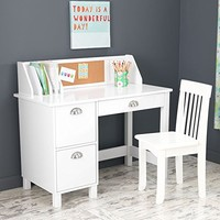 KidKraft Study Desk with Chair-White