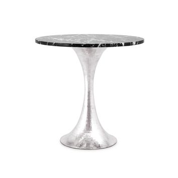 "STOCKHOLM NICKEL SIDE TABLE BASE WITH 20"" TOP"