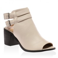 Nellie Nude Peeptoe Cut Out Boots