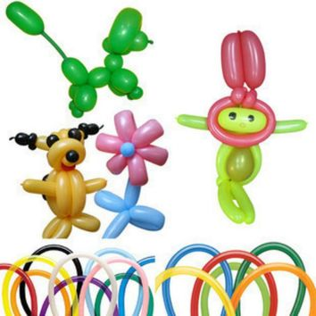 20pcs/lot Funny DIY Magic Long Balloons for Making Animal Flower Clown Balloons Latex Twist Balloons Birthday Party Decoration