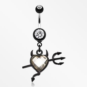 Cruela's Heart Belly Button Ring