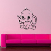 Wall Stickers Vinyl Decal Elephant Animal Funny For Children ig232