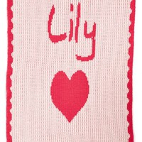 Infant Girl's Butterscotch Blankees 'Hearts - Small' Personalized Stroller Blanket, Size Small - Pink