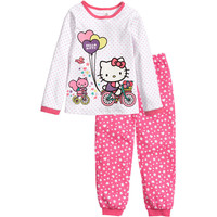 Cartoons Pattern Home Children Long Sleeve Sleepwear [6324918212]