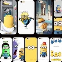 22 Styles Silicon Cover Despicable Me Yellow Minion Patterns Case For Apple iPhone 6 iPhone6 Phone Cases Shell PD-C HB-M ITH DHA