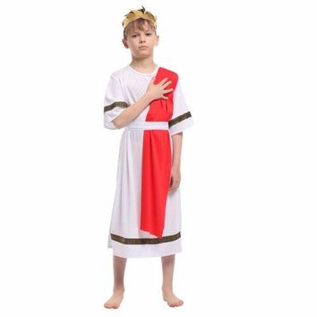 DCCKH6B Shanghai Story Kids Halloween Costumes Roman Prince Colthing Set Boy Table Costumes Small Roman Noble King Cosplay Costume