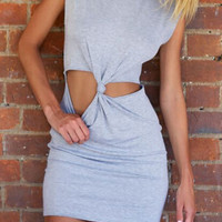 Sleeveless Cut Out Mini Dress