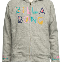 Billabong Tumbleweed Girls Sherpa Hoodie Grey  In Sizes