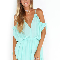 Chiffon & Bohemian Mint Romper | The Handmade Hustle