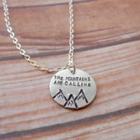 The Mountains Are Calling Necklace - Mountain Landscape Necklace - FREE CUSTOMIZATION