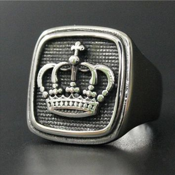 Men's Crown Ring Stainless Steel -Newest Biker Ring- Ships Free