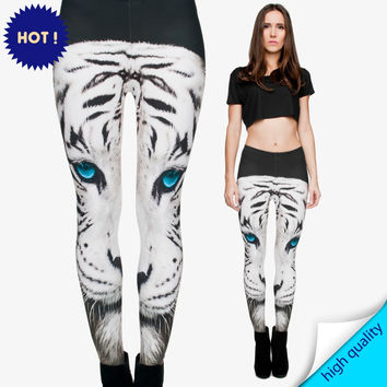 Mix City White Tiger 3d Printing Women Leggings Animal Brand Feminina Leggins Jersey Stretch Seamless Legging Sports Gym Fitness