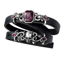 Alchemy Gothic Pirate Princess Skul Bracelet