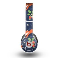 The Running Orange & Navy Vector Fox Pattern Skin for the Beats by Dre Original Solo-Solo HD Headphones