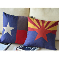 Stars Print Decorative Pillow [122] : Cozyhere