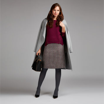 Moon British Wool Tweed A-Line Skirt