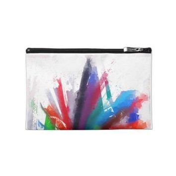 Dancing Peacock - Large Pencil Bag Travel Accessories Bag from Zazzle.com