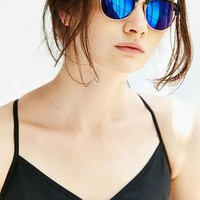Two Tone Half Round Sunglasses