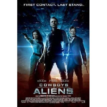 Cowboys And Aliens Movie Metal Sign Wall Art 8in x 12in