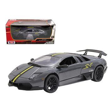 Lamborghini Murcielago LP 670 4 SV Grey Diecast Model Car 1:24 by Motormax