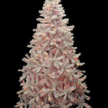 6.5' Pre-Lit White Cedar Pine Artificial Christmas Tree - Multi Lights