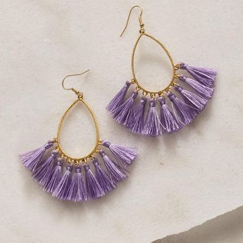 Pretty Palette Tassel Earrings - Lilac