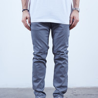 Silver | 5 Pocket Chino Slim Fit