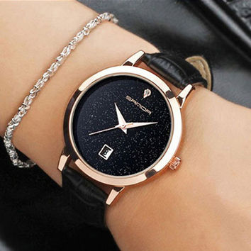 SANDA 2017 Fashion Wrist Watch Women Watches Ladies Luxury Brand Famous Quartz Watch Female Clock Relogio Feminino Montre Femme