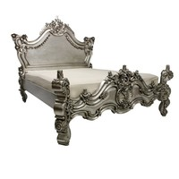 French silver ornate bed   French centrepiece bed