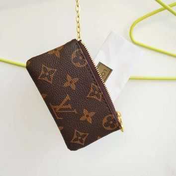 PEAPN LV Louis Vuitton Monogram Canvas Small Coin Purse Key Pouch