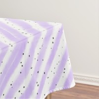 Pale Speckled Striped Tablecloth