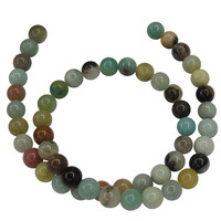 Natural Amazonite Stone Beads for Jewelry Making 6mm 8mm Round Loose Beads Fit Craft DIY Bracelets Accessories Supplies