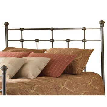Twin size Classic Design Metal Headboard in Hammered Brown Finish