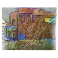 Brown House drawing Jigsaw Puzzle