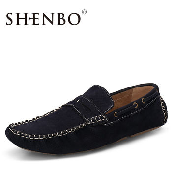 Fashion Men Suede Moccasin  Men Loafers, Slip On Men Driving Shoes, Casual Men Flats