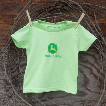 Baby Boys Clothes John Deere Embroidery T shirt 6, 12, 18 month green